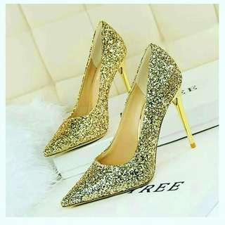 2019 luxury women Glitter high heels shoes
