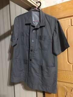 工裝短袖襯衫 XL