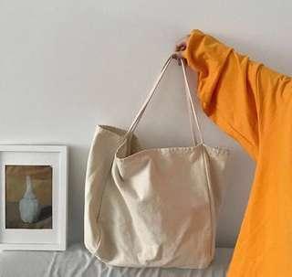 🚚 韓版質感大容量-帆布袋 #一百均價