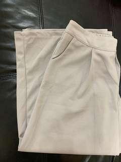 灰色 七分闊腳褲
