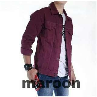 Jacket Denim Maroon