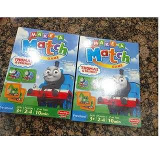 Mainan matching card Thomas&friends