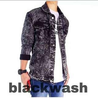 Jaket Denim Blackwash
