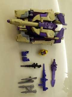 With 3rd party sxs add on, transformers generations blitzwing decepticon