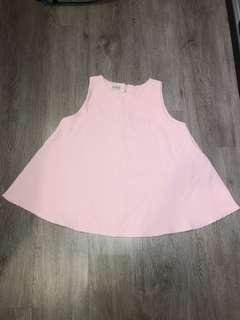 🚚 Pinky baby doll top (flare)