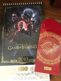 Game Of Thrones 2019 Calendar + Exclusive Ang Pow