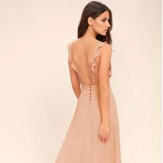 Dainty Blush Long Dress / Gown (Brand New)