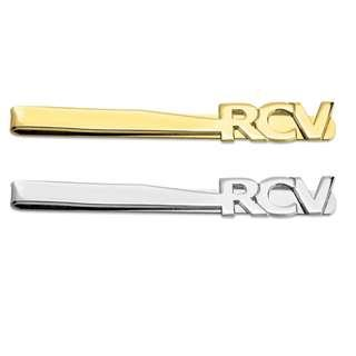 24K Gold Plated over 925 Sterling Silver Cut Out Tie Clip With Customised Initials4