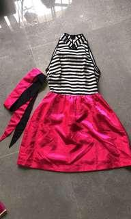 🚚 CNY Mandarin Collar Halter Neck Dress - XS