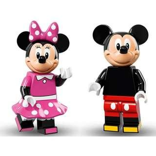[包郵] 全新 LEGO 71012 Disney Mickey + Minnie Mouse 米奇 米妮 人仔 D1-11+12