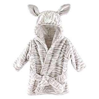 Hudson Baby Animal Plush Bathrobe - Zebra (0-9M)
