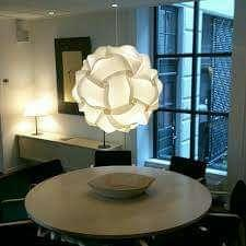 Jigsaw lampshade/ chandelier