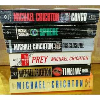 6 Books Michael Crichton