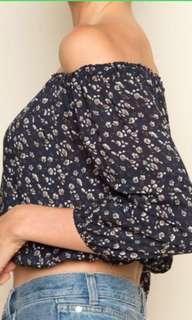 🚚 Brandy Melville Maura Floral Off Shoulder