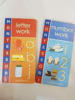 🚚 Montessori Learning: Alphabets/ Numbers Book