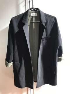 Naning9 (Krn)Black Open Front Blazer