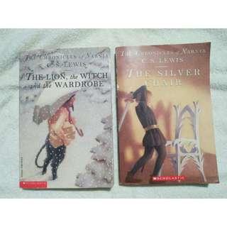 2 Books Narnia (# 2, 6) C.S Lewis