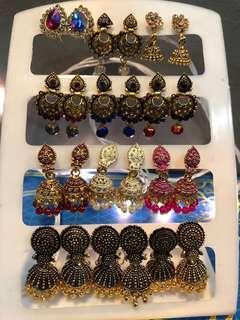 🚚 Indian Earrings $8/1 Pair , $20/3 Pairs