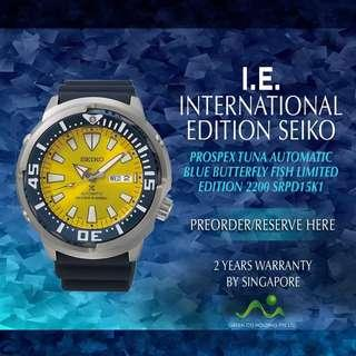 🚚 SEIKO INTERNATIONAL EDITION PROSPEX AUTOMATIC BLUE BUTTERFLY FISH DIVER 200M LIMITED EDITION 2200 SRPD15K1