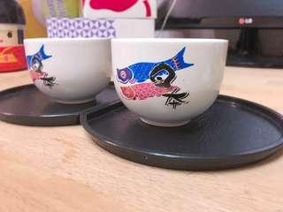 🚚 日式茶杯二入,有 2 組