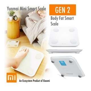 GEN-2 Xiaomi Yunmai Mini 2 Fat Scale. BIA Fat, Bone Mass, BMI, BMR, Protein