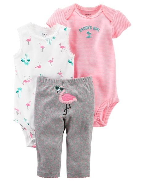 f5e9d6510 6M Brand New Instock Carter's 3 Pc Little Character Set Rompers ...