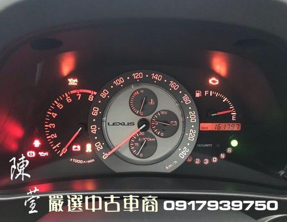 ☎ 0917939750 陳萱【2001 IS200 2.0L】市場罕見經典美車!1X萬便宜入手進口車!