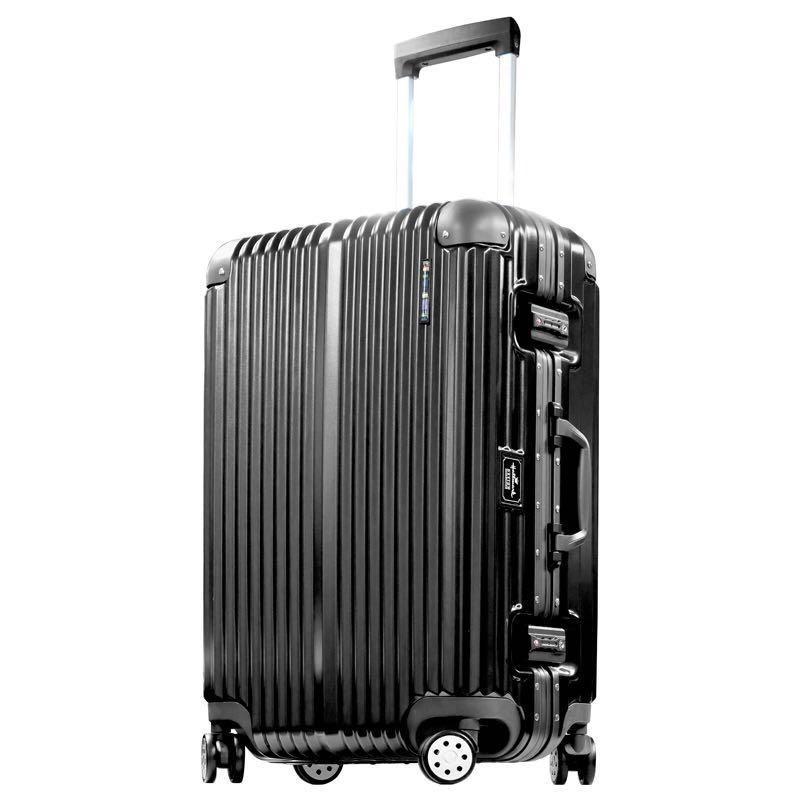 [正品] [全新] 美國 Hallmark HM828FT 金屬鋁框 行李箱 20吋 (黑色)