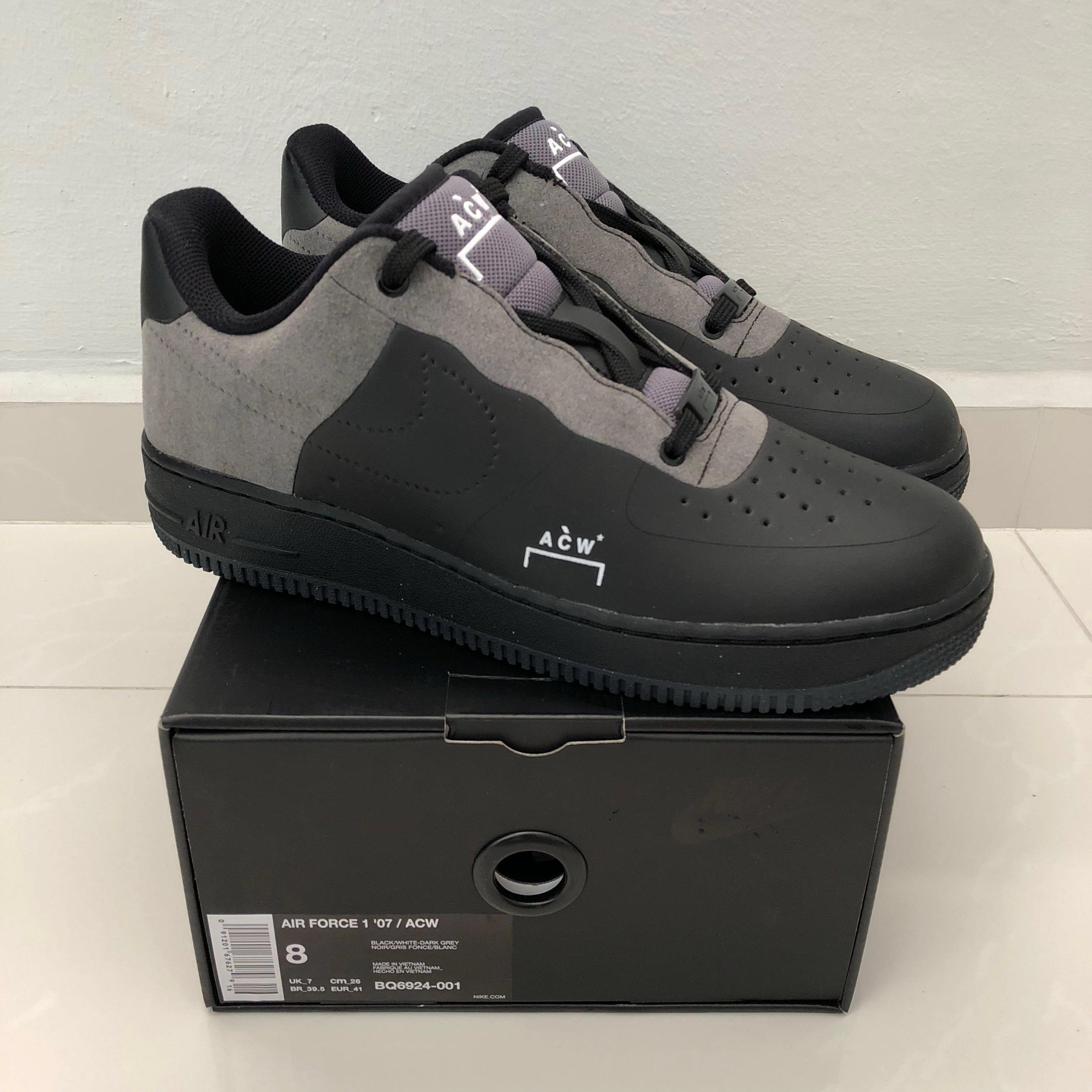 watch 6083d 8679b A Cold Wall x Nike Air Force 1 'Black', Men's Fashion ...