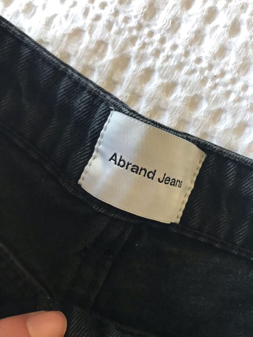 Abrand ripped high waisted shorts