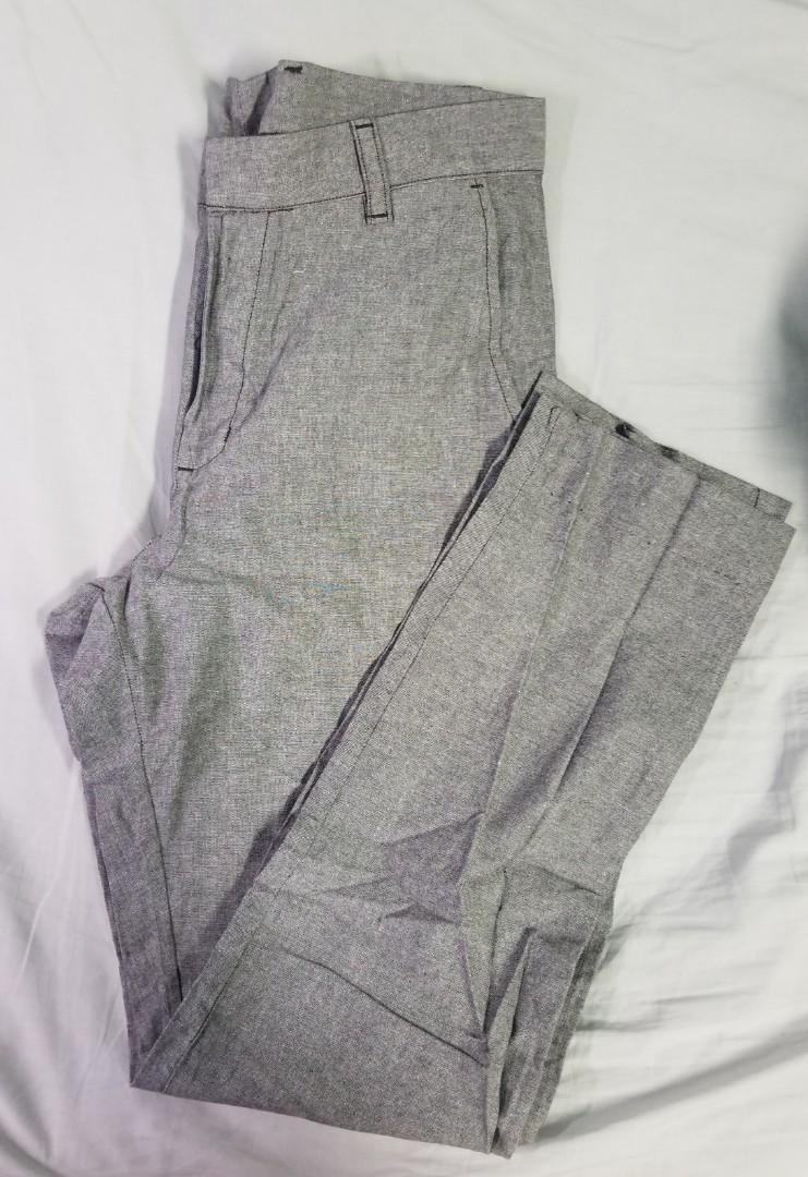 American Apparel - Size 30 - Light gray tapered work trousers