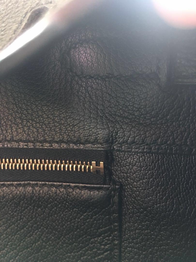 AUTHENTIC Hermes Birkin 30 Black Togo in GHW Complete no receipt