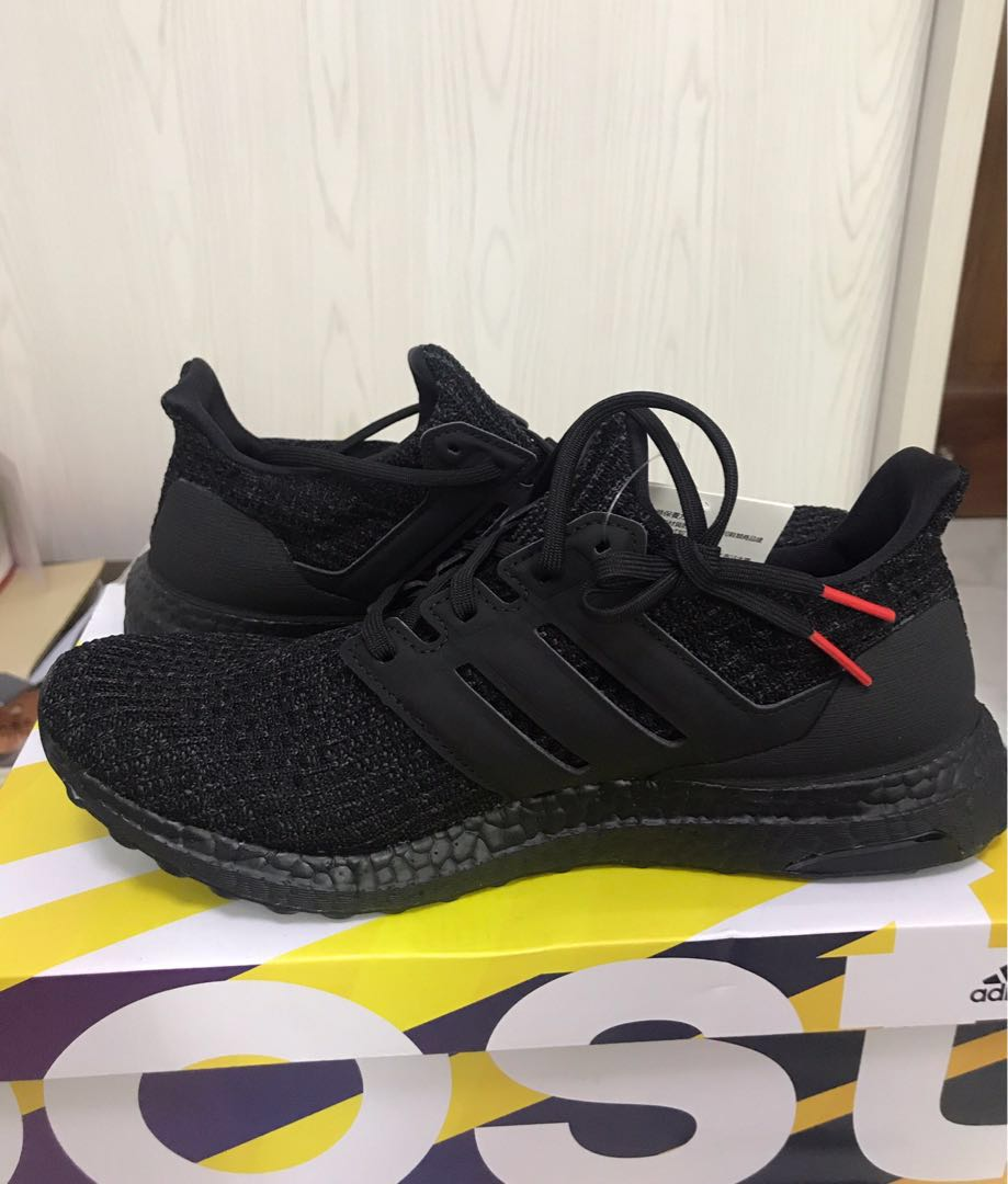 64f95eef0 BNIB Adidas Ultra Boost Core Black Active Red (US 8.5)