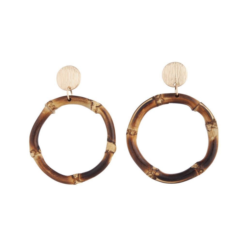 e9ed26a03 Brand new Lovisa Gold Brown Bamboo Drop Earring, Women's Fashion ...