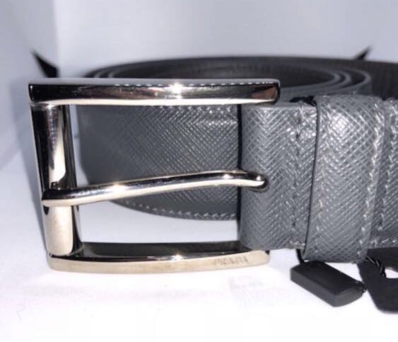 842d547d Brand New Prada Anthracite Saffiano Leather Men Belt Size 100