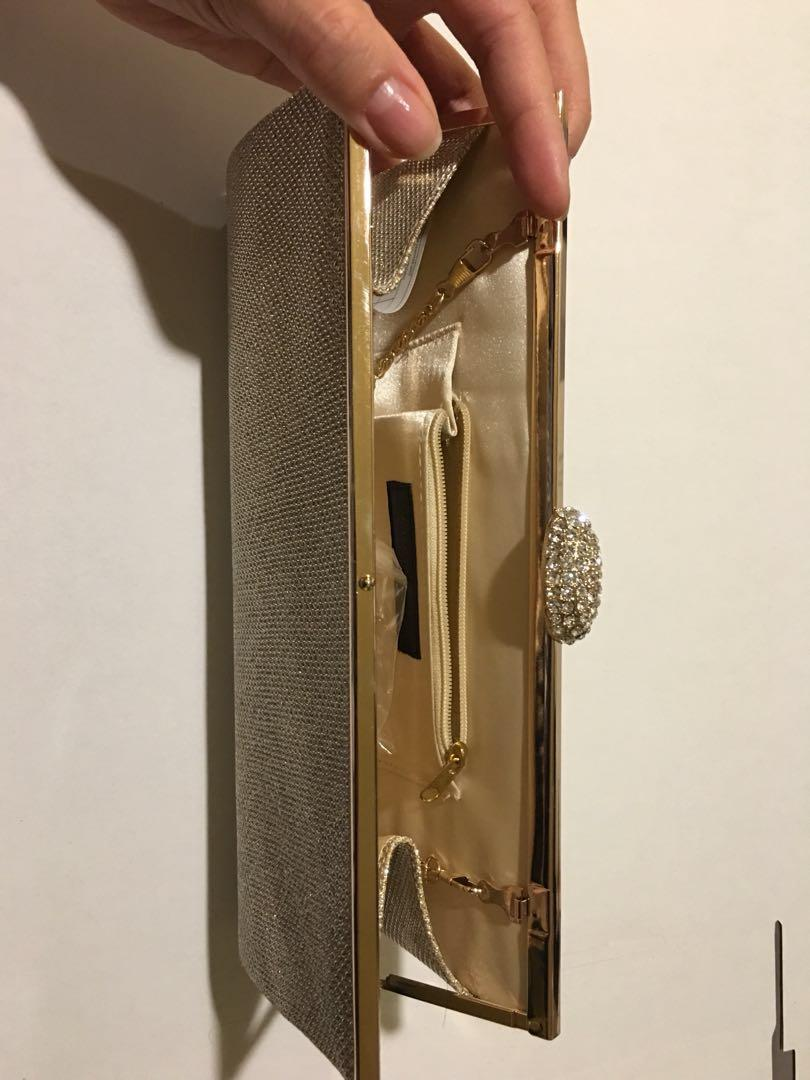 Brand new Sparkly Gold Clutch/Evening bag