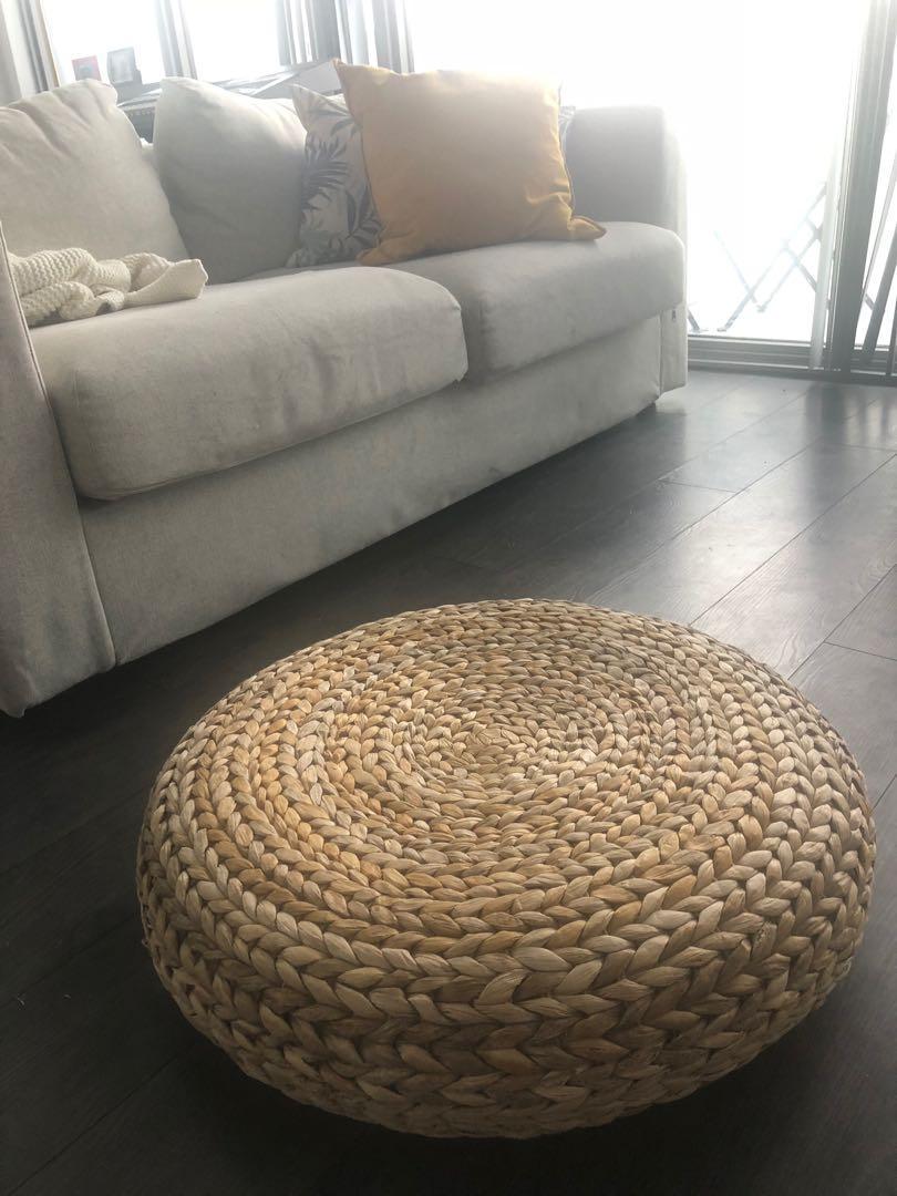 BRAND NEW Stool/Pouffe/brown stool/brown chair/Banana Fiber