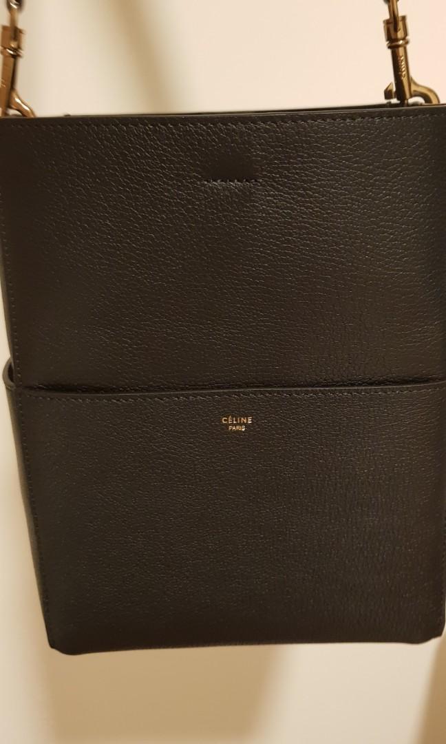 8f810e7dae Reduced) Celine sangle bucket bag small size