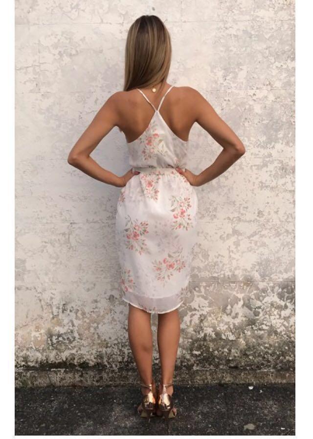 Chiffon Boutique || White Floral Dress