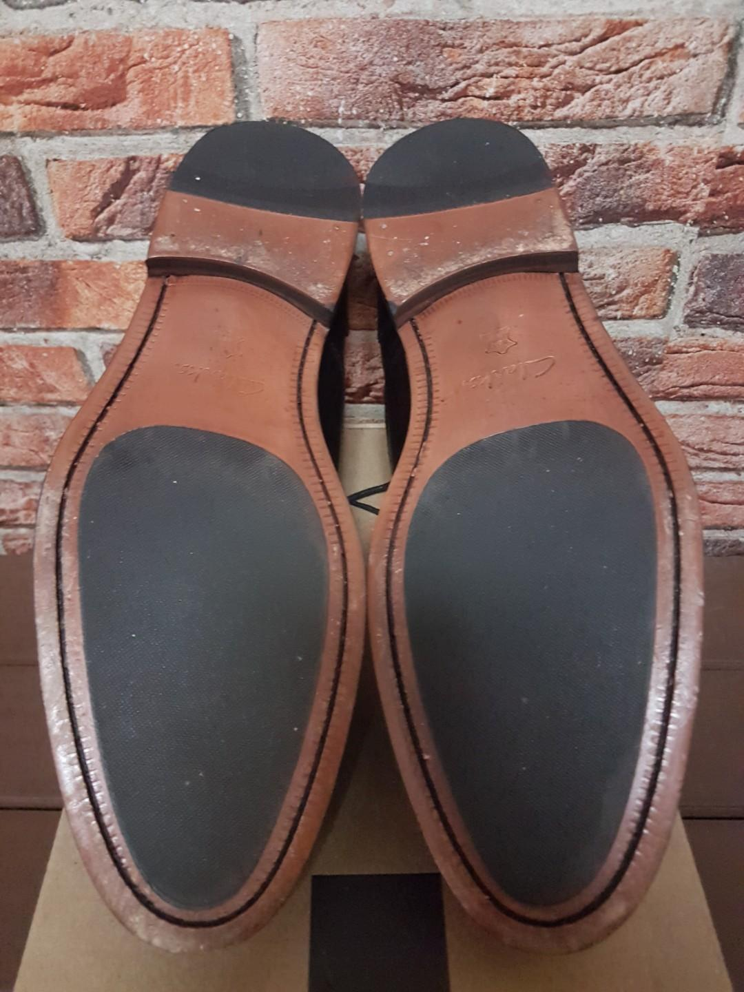 clarks coling boss black leather