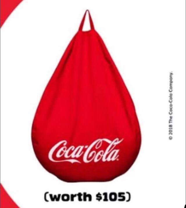 Awesome Coca Cola Coke Bean Bag Chair Limited Edition Alphanode Cool Chair Designs And Ideas Alphanodeonline