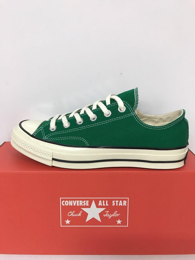 30c456b079836 CONVERSE CHUCK 70 OX AMAZON GREEN/BLACK, Men's Fashion, Footwear ...