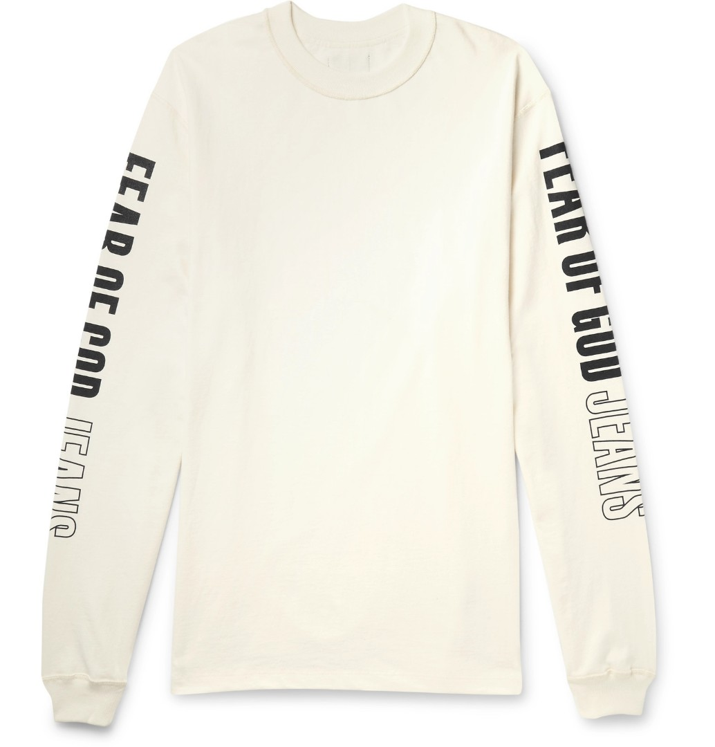fb9208a8e749 Fear of God Oversized LS Tee -Vintage White - XXL, Men's Fashion ...