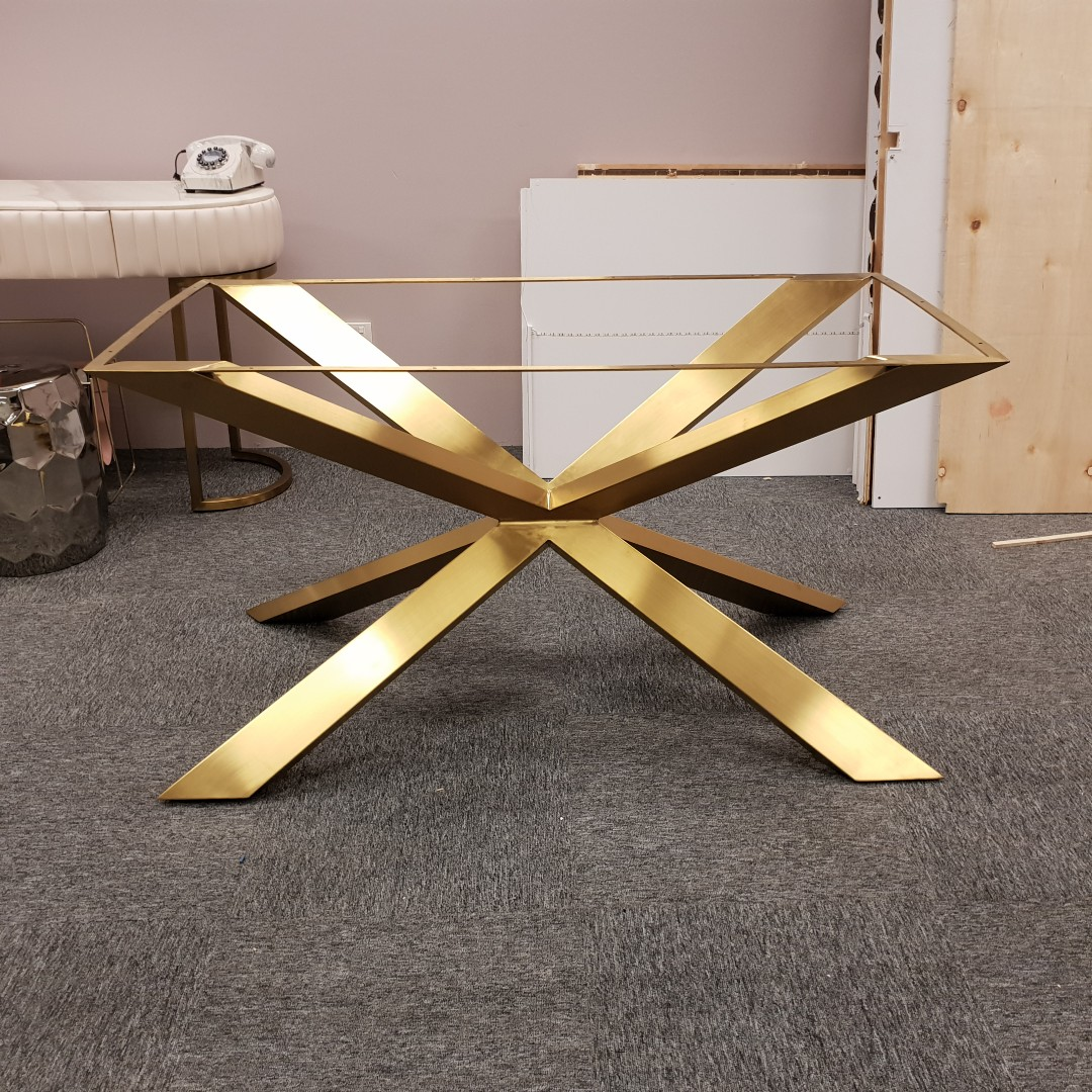 Gold Stainless Steel Dining Table Legs Furniture Tables Chairs