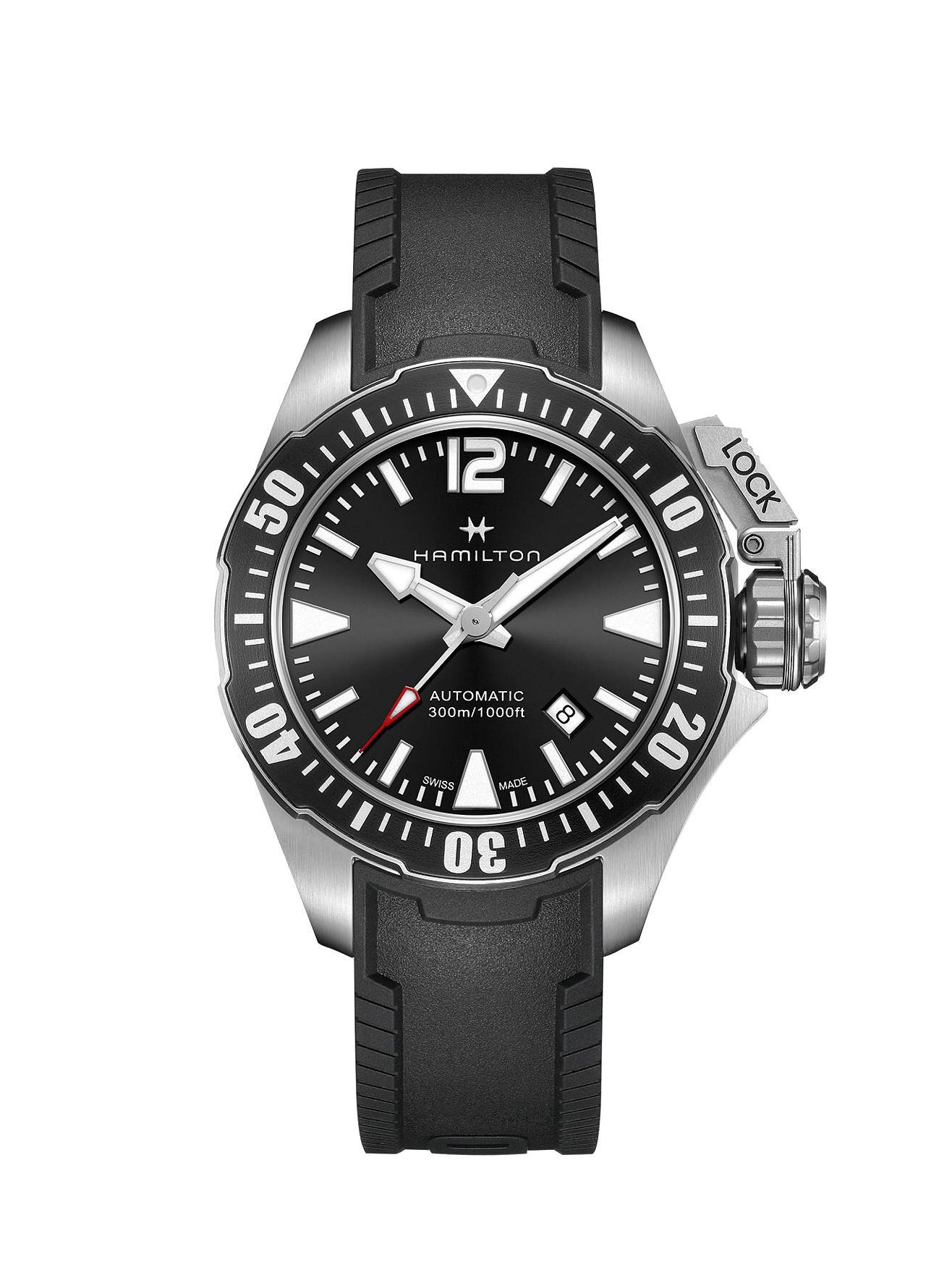 02998ccad Hamilton Khaki Navy Frogman Automatic Watch, Men's Fashion, Watches ...