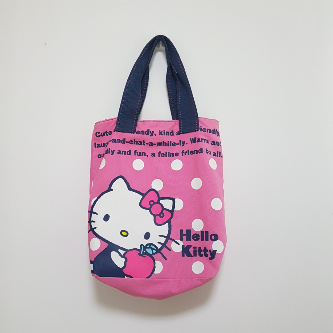 fd76aa49f Hello Kitty Canvas large tote bag from japan, Women's Fashion, Bags ...