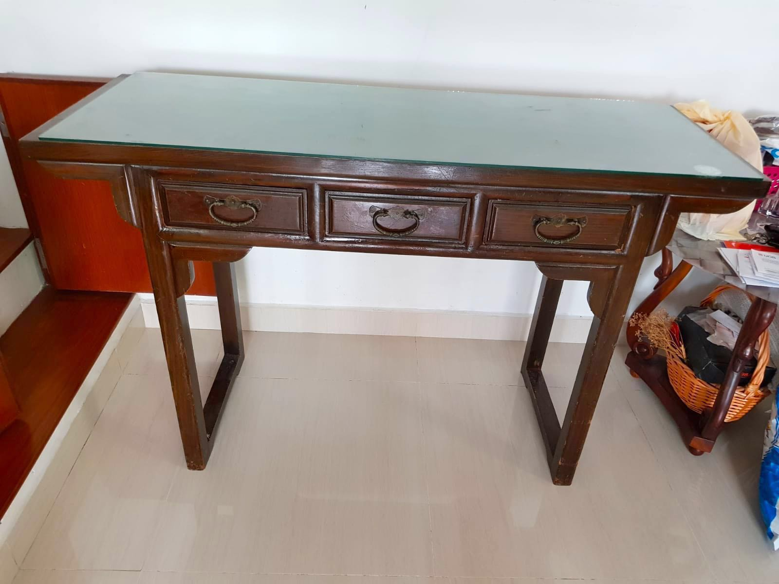 High Table High Console Drawer Shelf Furniture Shelves Drawers