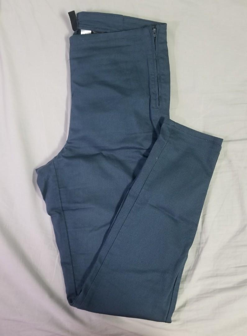 H&M - Size 10 - ateal jeggings with zipper on side