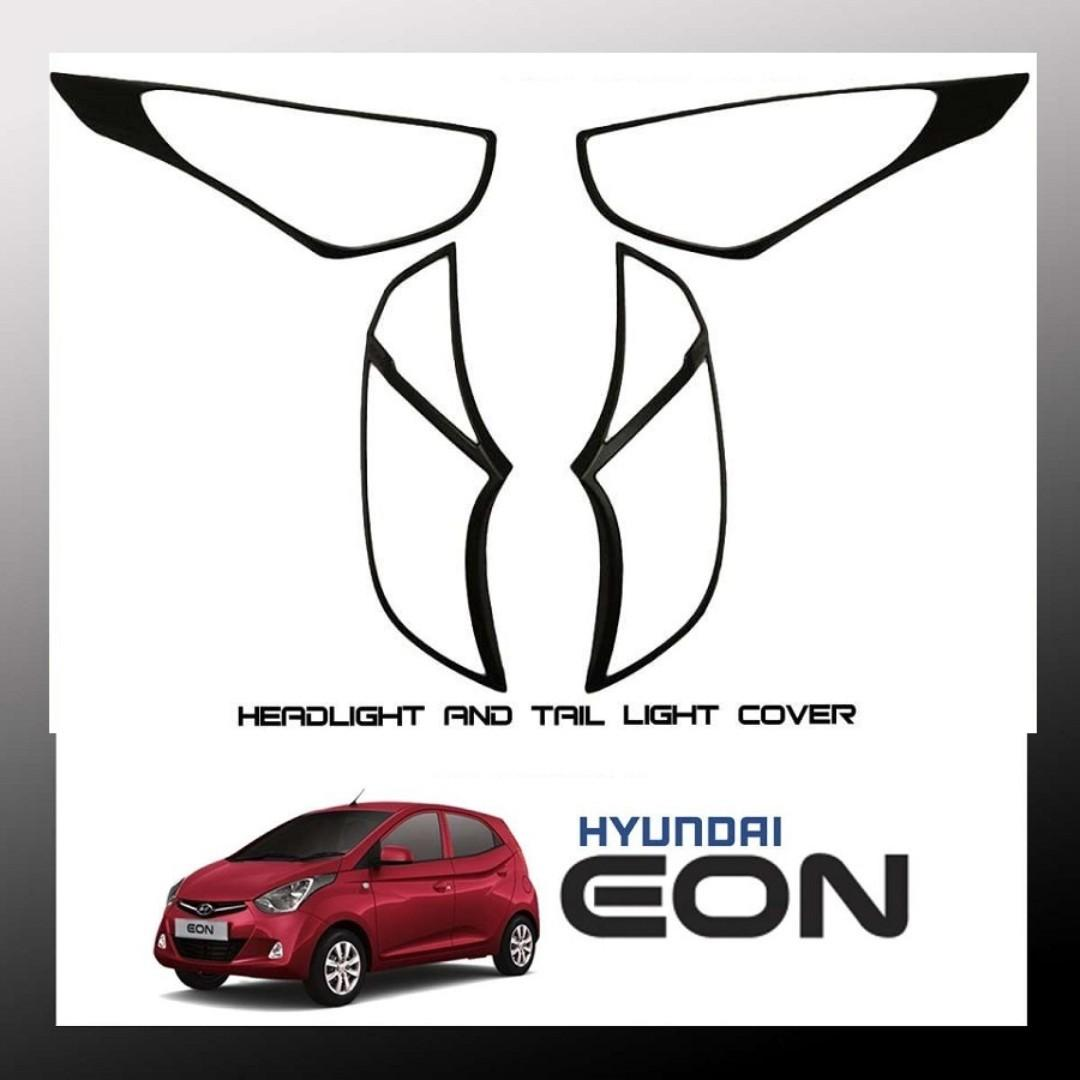 Hyundai Eon 2012-2018 Headlight and Tail light Cover (Matte Black