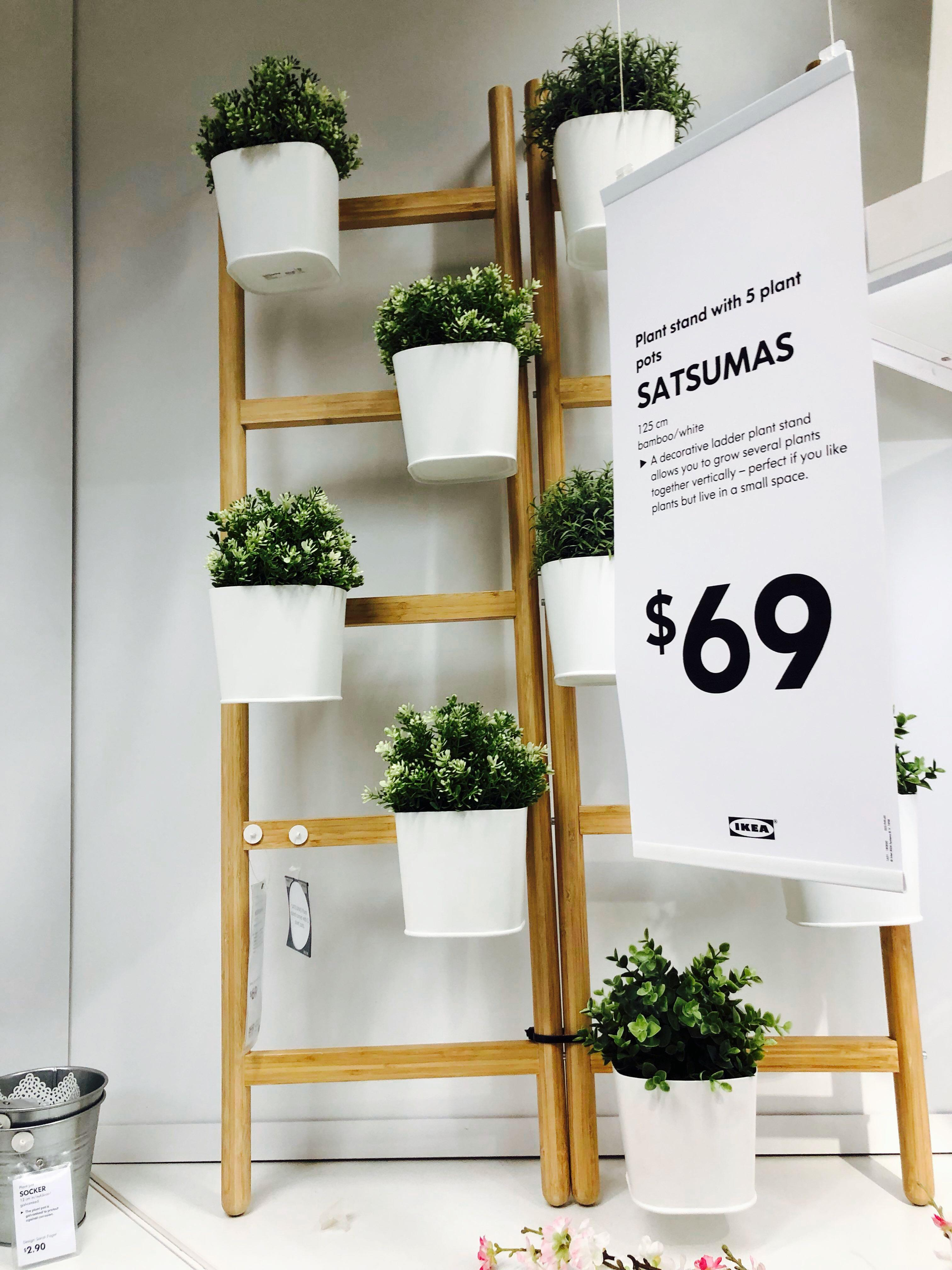 Ikea Satsumas Plant Stand With 4 Pot Gardening Pots Planters On Carousell